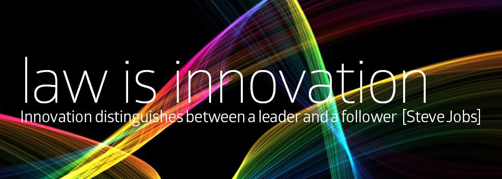 Law is innovation – EN
